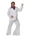 Grote maat wit disco pak voor heren