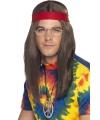 Hippie heren verkleed kit deluxe